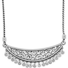 NWT Brighton DECO DANGLE CHARM Necklace Silver MSRP $68