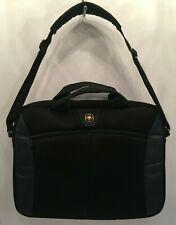 "Wenger Swiss Army Laptop Computer Case Shoulder Bag Carry On Briefcase Black 16"""