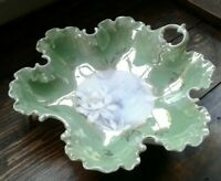 LUSTERWARE VINTAGE CANDY DISH BAVARIA ROSENTHAL R&C  GORGEOUS  FLUTED OLD MINT