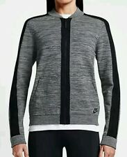 Nike Sportswear Tech Knit Bomber Jacket Women's Small Gray 819031-065 NEW $250