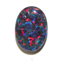 Australian 14x10x4mm Natural Black Triplet Opal Stone For Ring Pendant