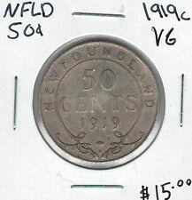 Canada Newfoundland NFLD 1919c 50 Cents VG Lot#4