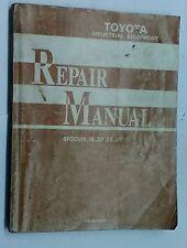 Toyota Industrial Equipment Repair Manual 6FGCU15,18,20,25,30
