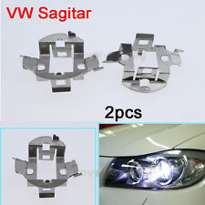 New Auto Car A Pair HID Xenon Bulb H7 Holder Adapters For Volkswagen Sagitar