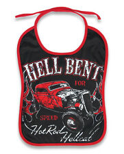 HOT ROD RAT ROD COUPE ROCKABILLY BABIES BABY BIB PUNK BABY BLACK RED ROCK N ROLL