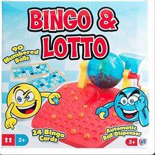 BINGO & LOTTO GAME /w Automatic Ball Dispenser & 24 Bingo Cards