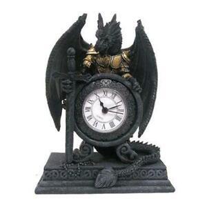 Pukator Gothic Dragon Armoured Clock