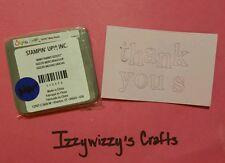 Stampin Up Sizzix Sizzlits MANY THANKS new in pkg RETIRED (14-12)