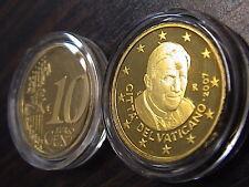VATICANO 2007 1 moneta da 10 eurocent FONDO a SPECCHIO PROOF FS PP BE in capsula