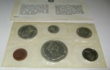 1965 Canadian 6 Coin Mint Set - Uncirculated Elizabeth II Silver Mint Packaging