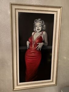 Anthony Orme Marilyn Monroe Oil Painting With Frame