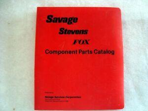 Savage Stevens Fox Dealers 1986 catalog 175 pages diagrams Shotguns Rifles parts