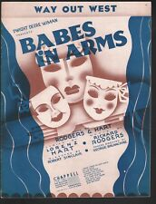 Way Out West 1937 Babes In Arms Sheet Music