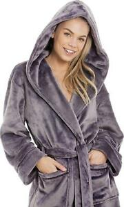 Camille Bathrobe / Dressing Gown with Hood - Supersoft & Choice of Colours