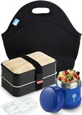 MONKA Bento Lunch Box With Thermos Vacuum And Lunch Bag