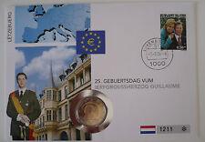 Numisbrief 2 euros conmemorativa, Luxemburgo 2006, 25. cumpleaños Guillaume