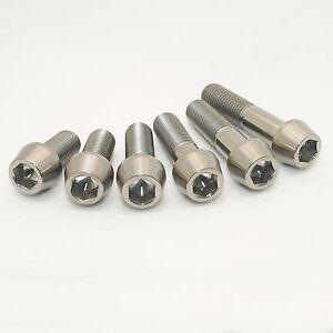 M10 Titanium Ti Taper Cone Socket Allen Bolt 20 25 30 35 40 45 x1.25 CNC Grade 5