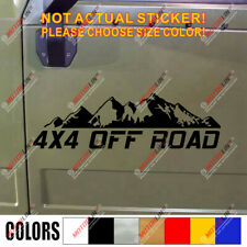 4X4 Off Road Decal Sticker Car Vinyl fit for Jeep Ford Toyota mountain Chevy c