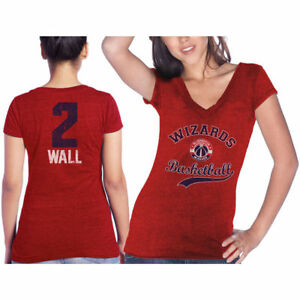 Women's Majestic Threads John Wall Red Washington Wizards Name & Number - M