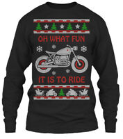 Cafe Racer Christmas Gildan Long Sleeve Tee T-Shirt