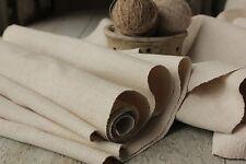 Vintage fabric European old Linen 4.6YDS x 18 homespun material hand-woven cloth