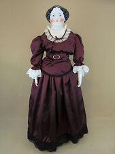 "36"" HUGE Antique German Civil War Era 1860s Flat Top China Head Lady Doll"