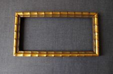VINTAGE JAPANESE STYLE CARVED WOODEN GOLDEN PICTURE FRAME