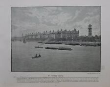 1896 LONDON PRINT + TEXT ST.THOMAS'S HOSPITAL