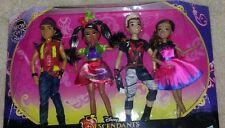 Disney Descendants 4 Dolls, Wicked World Neon Ball, Jay, Freddie, Audrey, Carlos