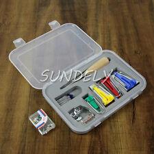 1set Fusible Bias Binding Tape Maker Tip Kit Tool For Sewing & Quilting + AWL