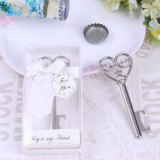 Bottle Opener Key Design Corkscrew Wedding Gift Shower Favor with box ZY
