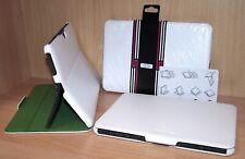 weißes Premium echt Leder Cover Schutzhülle für Samsung Galaxy Tab 10.1 H9