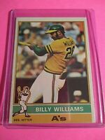 1976 Topps #525 Billy Williams Vintage Baseball Card ExMt  Oakland Athletics.