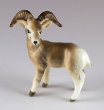 Vintage Miniature Bone China Dall Sheep Ram Figurine Matte Finish
