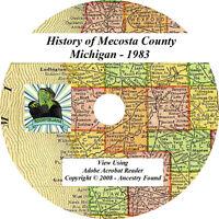 1883 History & Genealogy of MECOSTA County Michigan MI