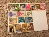 Vatican City Stamps Mounted On Cardboard 1968 1972 1969 1974 Assorted Old
