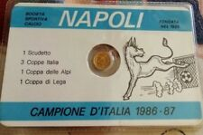 Napoli football Campione D'Italia 1986-87 Maradona collector's coin+card,moneta