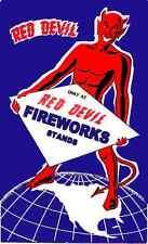 Firecracker label poster Red Devil Style #2