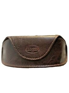 FOSSIL SUNGLASSES GLASSES CASE BRAND NEW MAGNETIC CLOSURE BROWN FAUX LEATHER YES