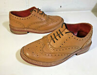 SAMUEL WINDSOR Tan Leather Brogue Shoes UK Size 5 Good Condition