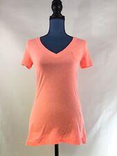 Mossimo Women's Shirt V neck-size Size M short sleeve Coral Orange