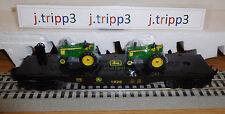 LIONEL JOHN DEERE FLATCAR 2 DIE-CAST METAL FARM TRACTOR O GAUGE TOY TRAIN #83286