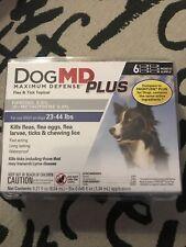 New listing DogMd Plus Maximum Defense Dog 23-44 lbs Flea & Tick 6 doses