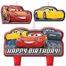 Disney Cars 3 Mini Candles Set Boy Birthday Party Supplies Cake Toppers ~ Latest