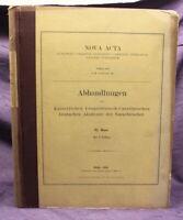 Wangerin Nova Acta Abhandlungen der Naturforscher 1910 / 92. Band Leopoldina js
