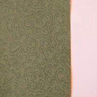 Vintage Wallpaper Green Filigree Scroll by Clarence House