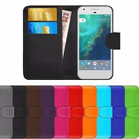 Premium Luxury Leather Flip Wallet Book Ultra Slim Case Cover For Google Pixel