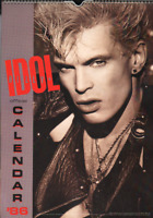 BILLY IDOL OFFICIAL CALENDAR 1986.  By Whiplash Smile Productions, PUNK ROCK