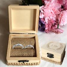 Country Wedding Ring Bearer Box I Do Wooden Display Jewelry Ring Holder Case