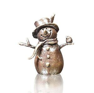 Bronze Butler & Peach 2090 Snowman Figure.